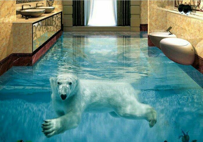 Наливные 3D полы в Санкт-Петербурге
