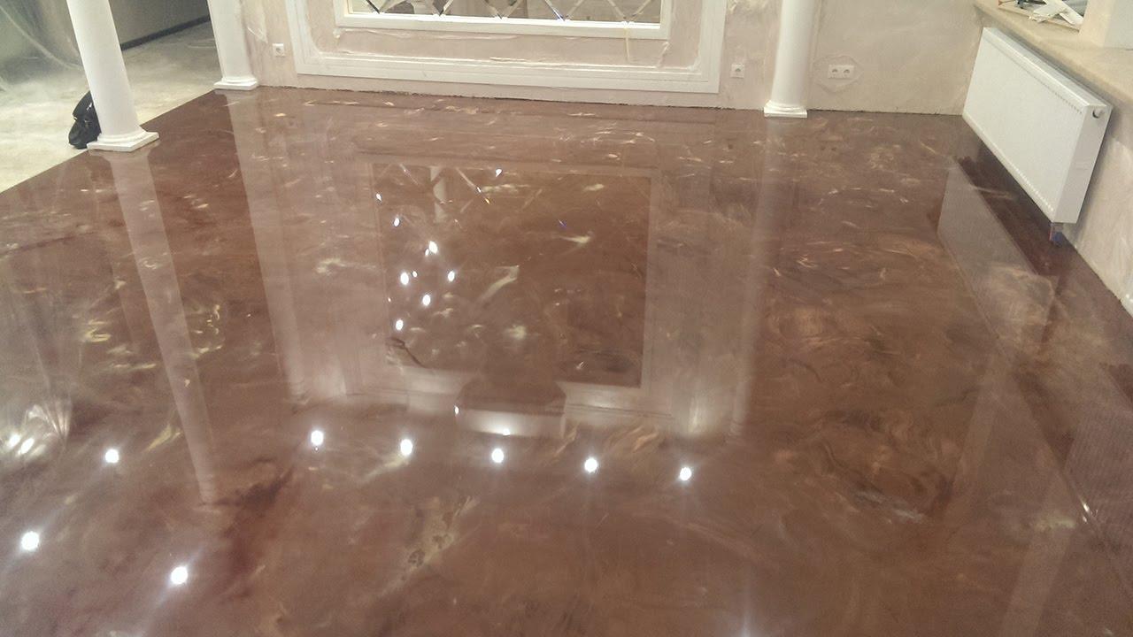 Наливной пол в квартире в Санкт-Петербурге