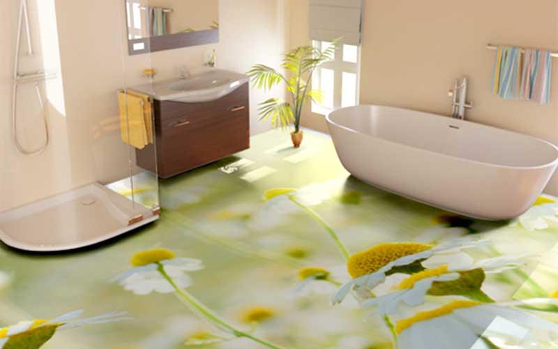 Наливной пол в ванной в Санкт-Петербурге